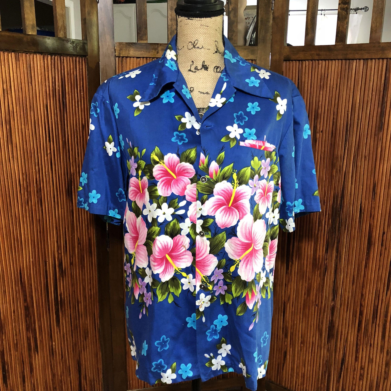fb3ed150 Vintage Men's 1960's Floral Ui-Maikai Aloha Hawaiian Shirt by  BoujeeBearVintage ...