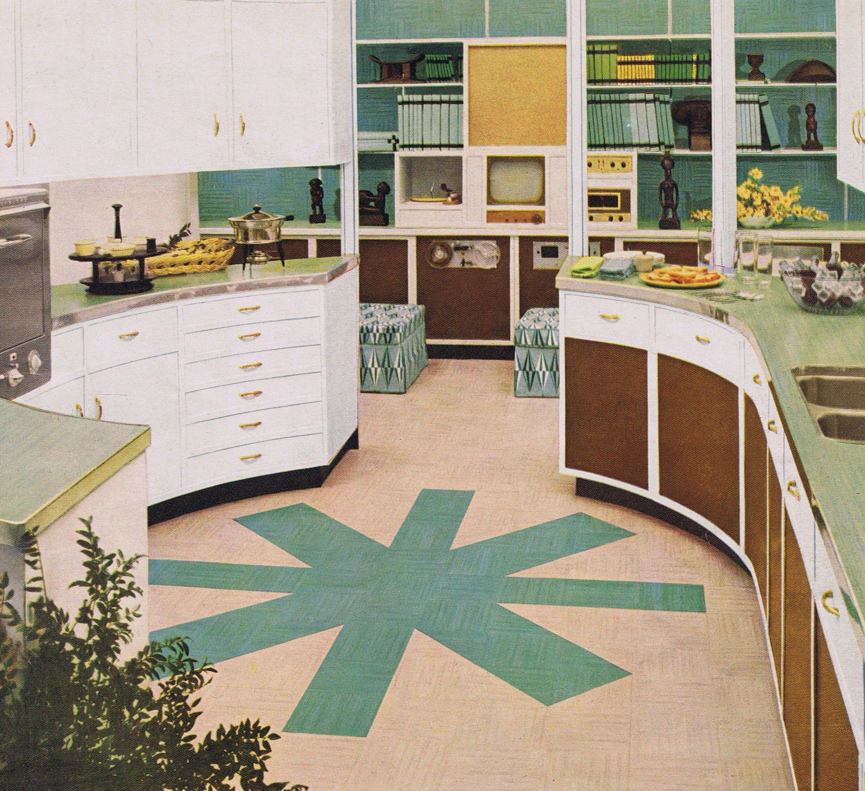 1954 Wrap-Around Kitchen