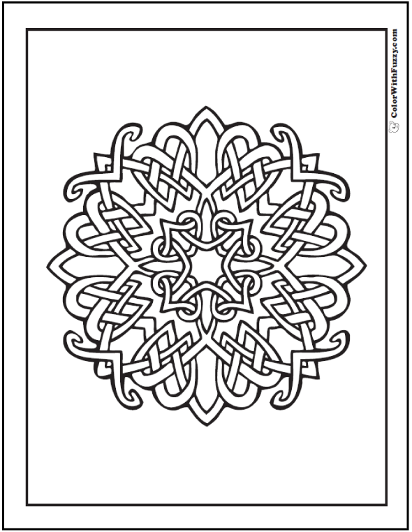 celtic coloring pages at colorwithfuzzycom intersecting celtic design cross with hearts and radiance - Hearts Crosses Coloring Pages