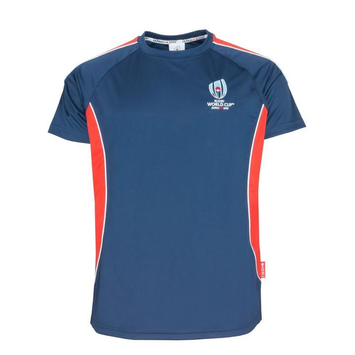 60490c51678 Rugby World Cup 2019 Men's Panel Poly T-Shirt | Navy | Rugby - Rugby ...