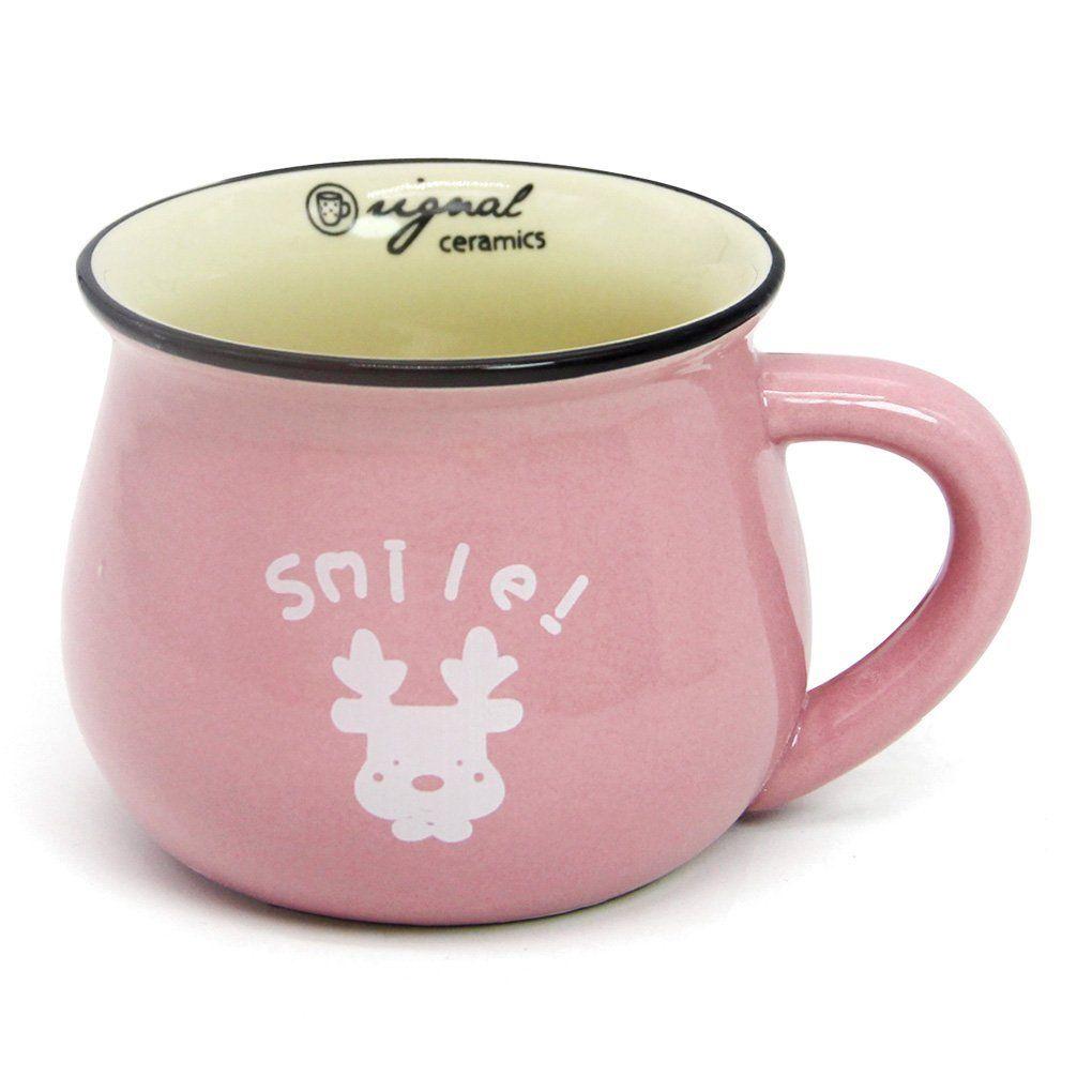Momugs 8 Oz Coffee Cup Novely Cute Lovely Cartoon Animal Pattern Small Milk Mug