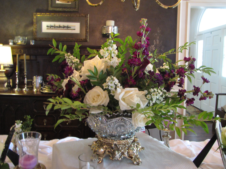 Crystal Punch Bowls Make Excellent Flower Arrangements For Bridal