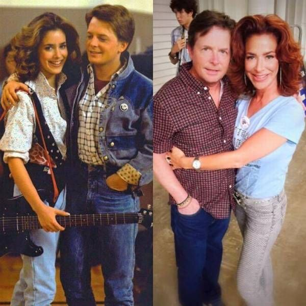 Marty Mcfly And His Girlfriend Jennifer From The Original Back To