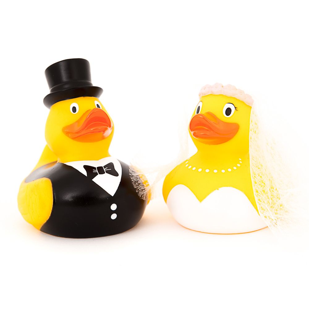 Wedding Couple Rubber Duck With Bride And Attached Vail And Groom Ducks In The Window Rubber Duck Gift Duck Gifts Rubber Duck