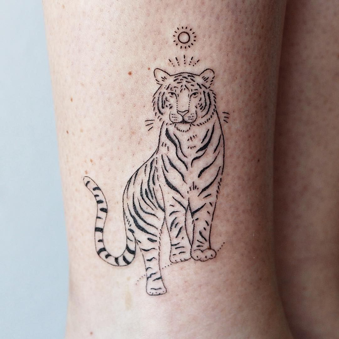 """Photo of s t i c k   &   p o k e. on Instagram: """"My first tiger and Teagans first tattoo. Very happy with"""