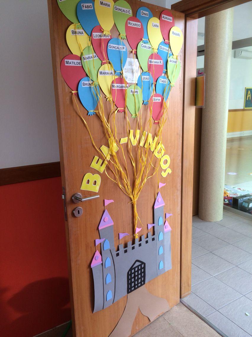 Porta bem vindos cartazes pinterest schule for Porta kinder