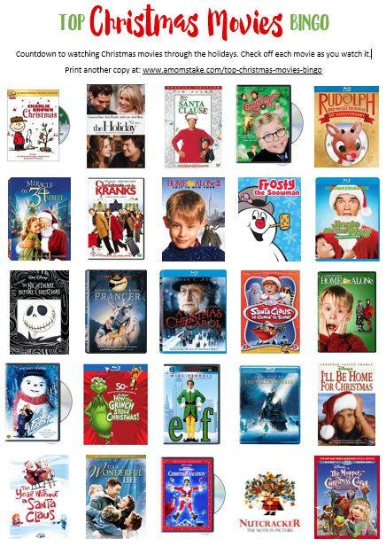 Best Christmas Movies Bingo Printable!   Christmas movies list ...