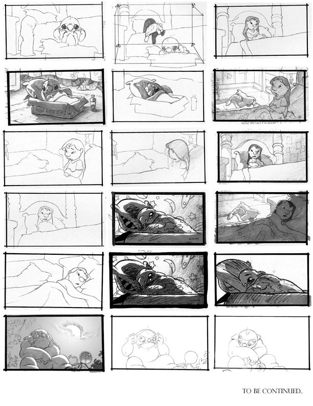Lilo and Stitch storyboards Animation Pinterest Storyboard - comic storyboards