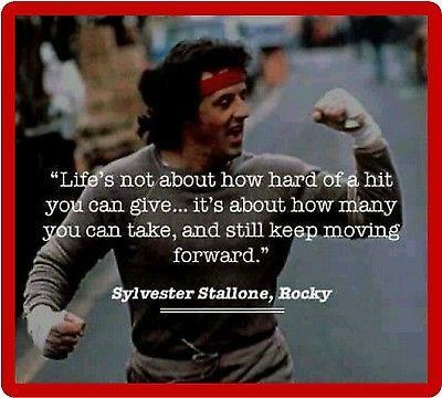 Rocky Balboa Sylvester Stallone Quote Refrigerator Tool
