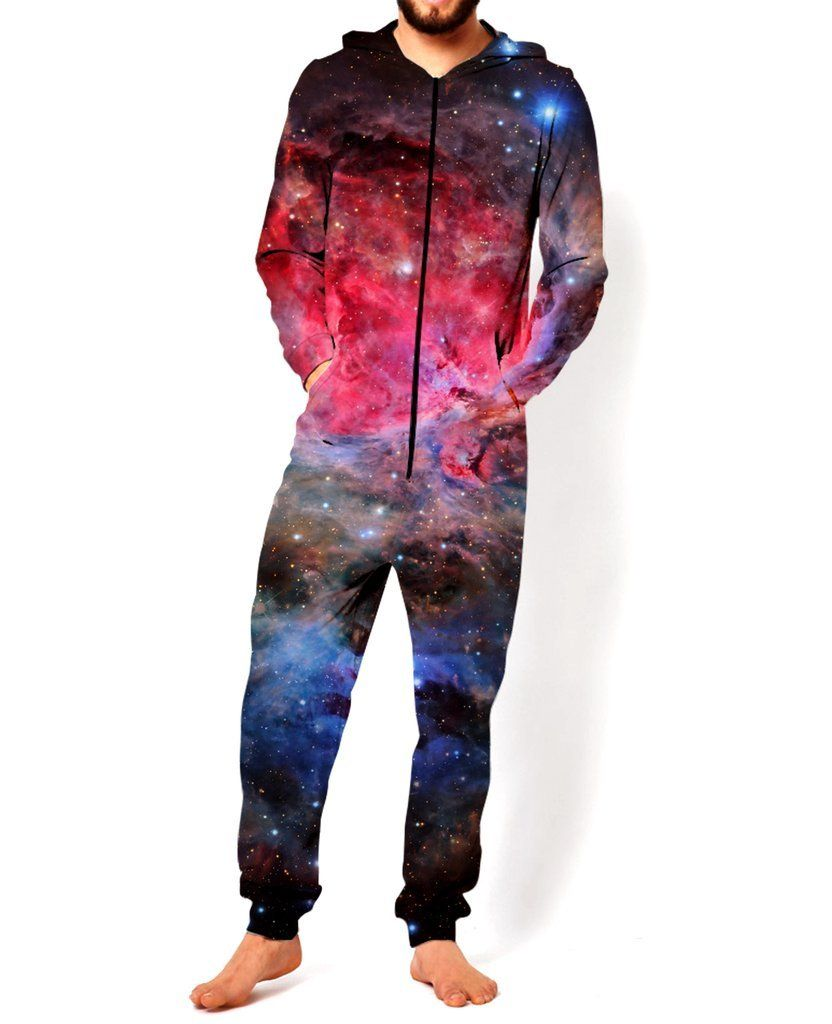 4cbee3c5a383 New the all over Unisex fasion galaxy 3D jumpsuit