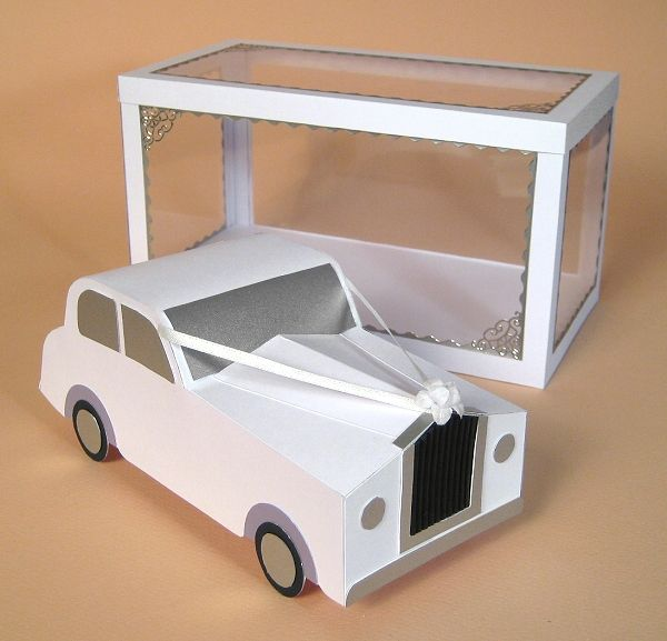 Card Craft / Card Making Templates - Wedding Car and Display