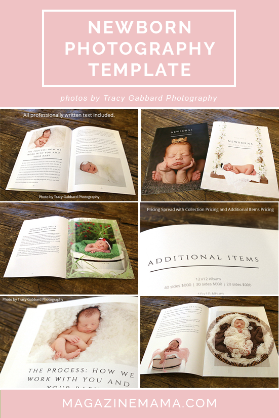Newborn photography welcome guide template