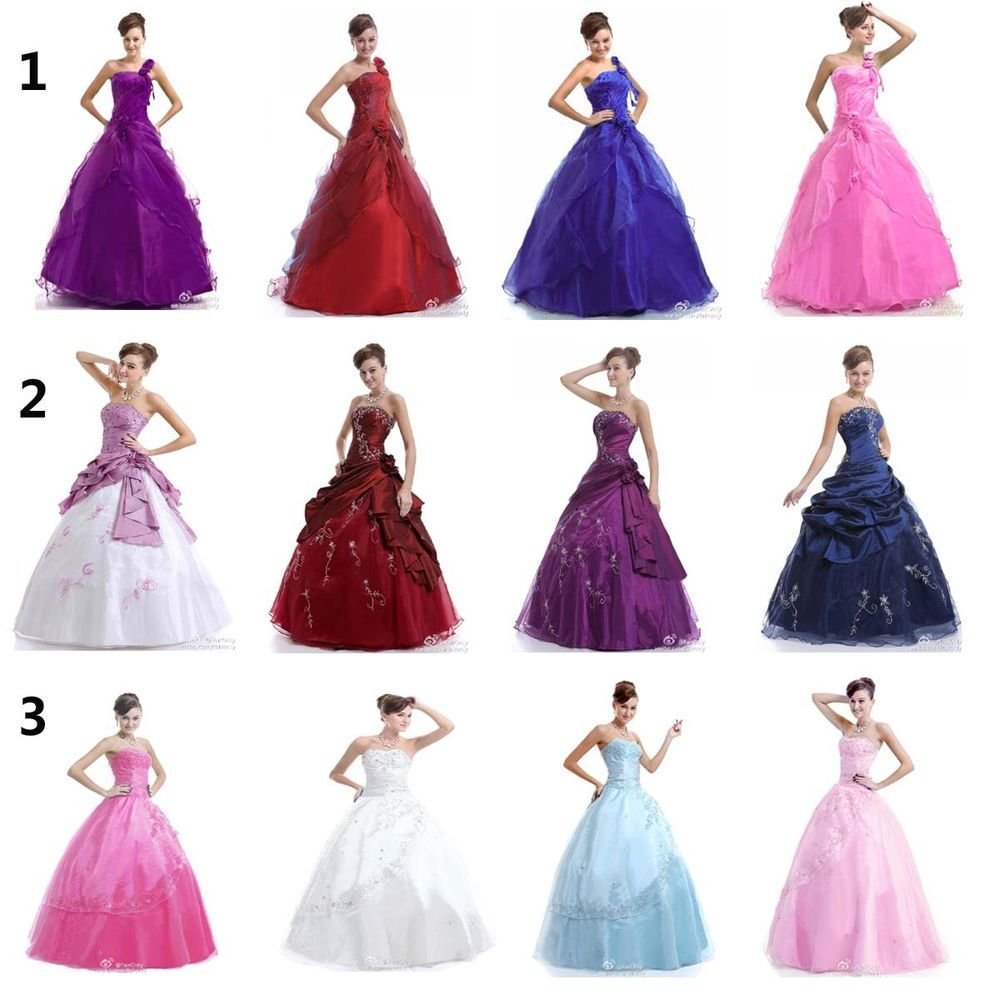 Faironly women long evening formal prom dress ball gown size