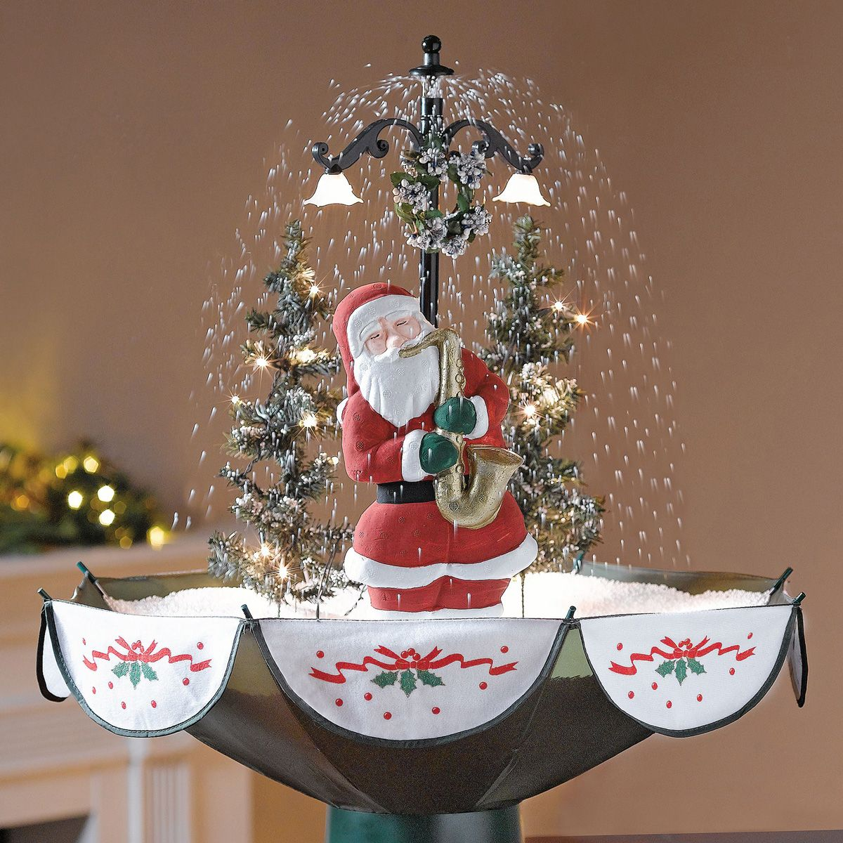 Snowing Christmas Tree.Tabletop Snowing Christmas Tree My Love For Christmas