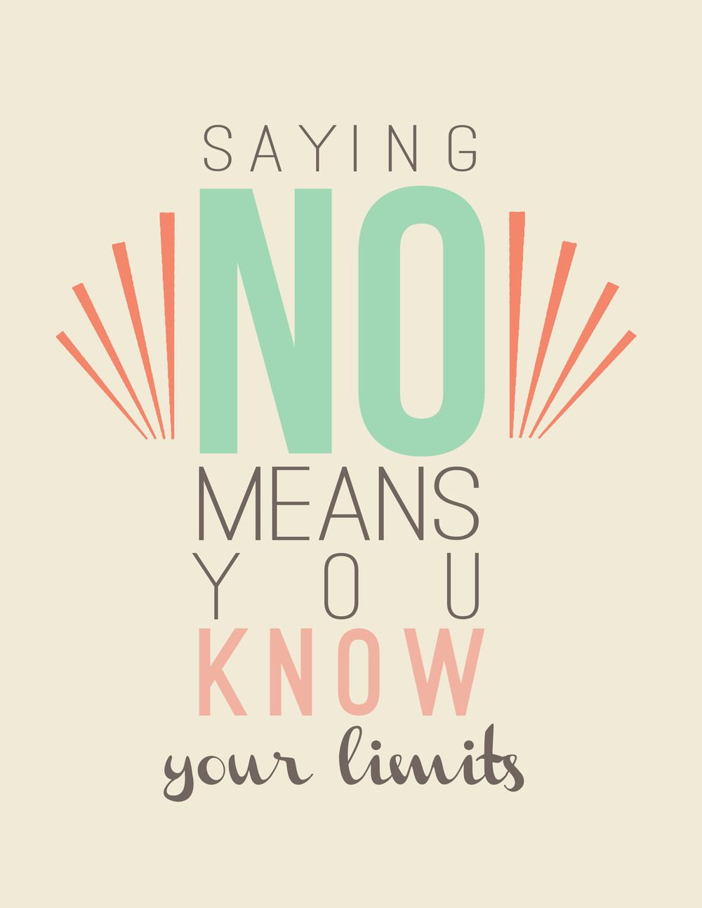 quotation // say no  Quotations, Learning to say no