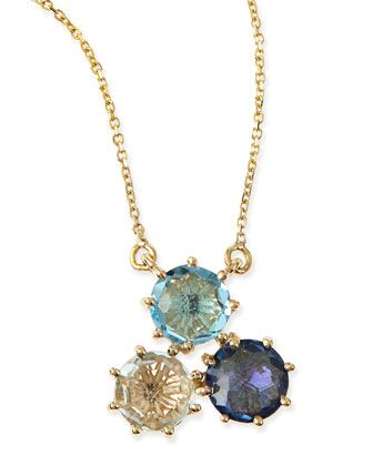 Multi stone blue cluster pendant necklace by kalan by suzanne kalan multi stone blue cluster pendant necklace by kalan by suzanne kalan at neiman marcus aloadofball Image collections