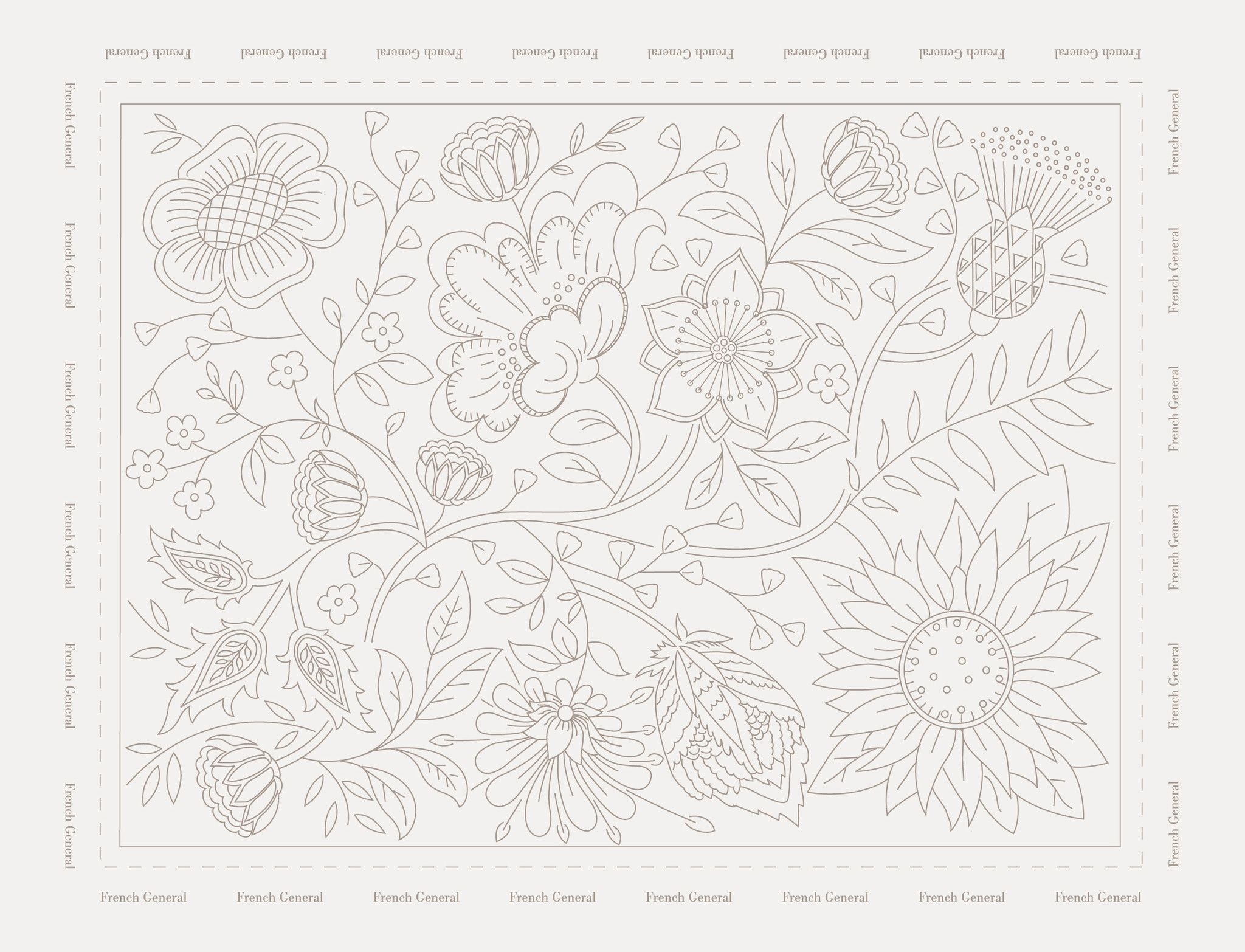 Les Quatre Saisons Sampler #embroideryfloss