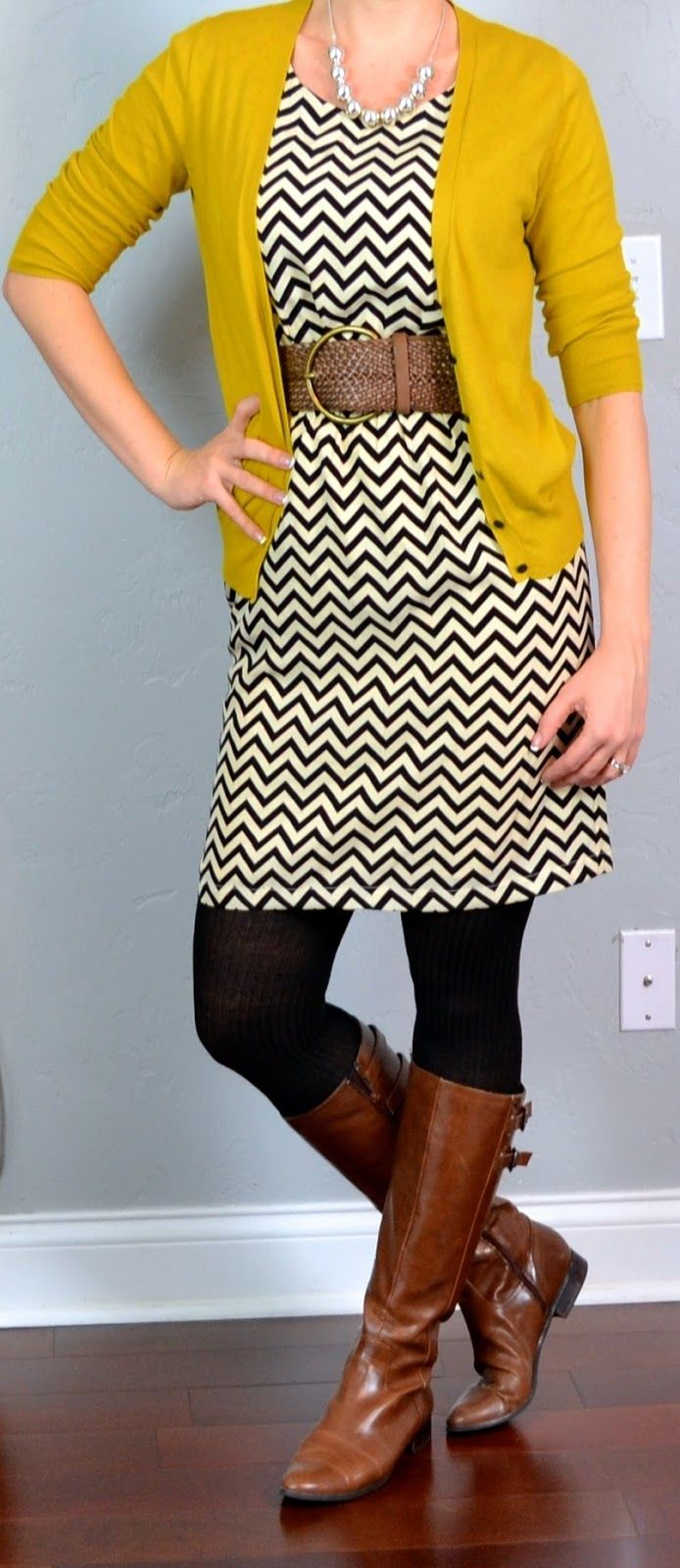 Perfection in a chevron dress dresses pinterest mustard
