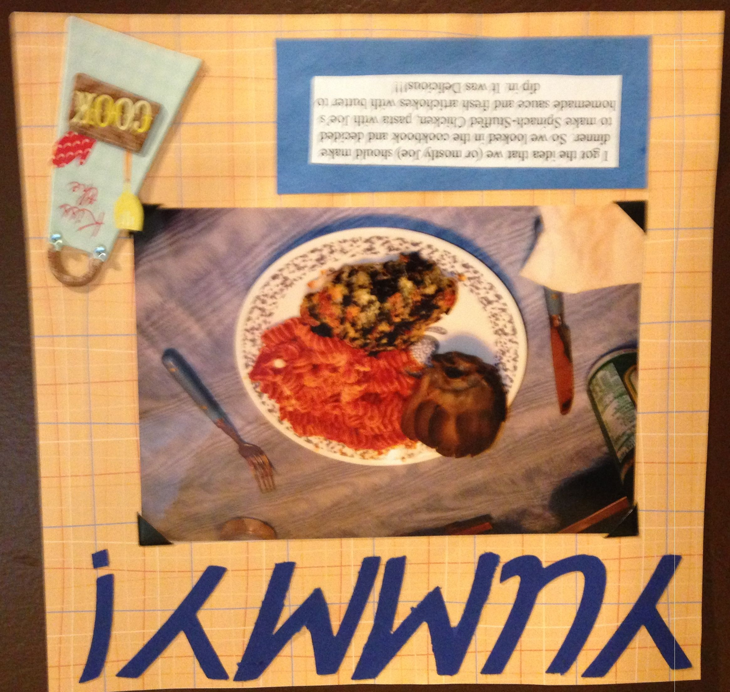How to make scrapbook for my boyfriend - Yummy Homemade Dinner This The First Dinner My Boyfriend Made For Me