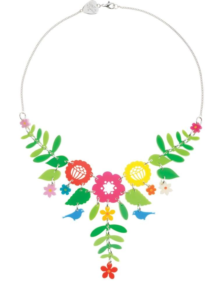 Mexican embroidery inspired necklace.