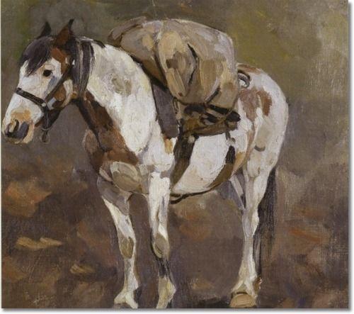 Carl Rungius - Pack Horse Approximate Original Size ...