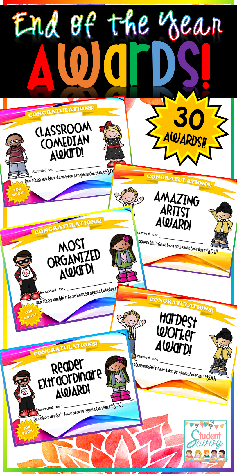 Fun End Of The Year Awards For Students Great For Kindergarten Through Th Grade  Awards Some Funny So Every Student In Your Class Receives An Award
