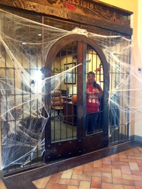 Front office deocoration by Connie! Halloween Decorating Ideas - halloween decorations for the office
