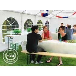 Reduced party tents  Party tent 3x6m Pvc 500 g  m white waterproof garden tent marquee pavilion ToolportToolport