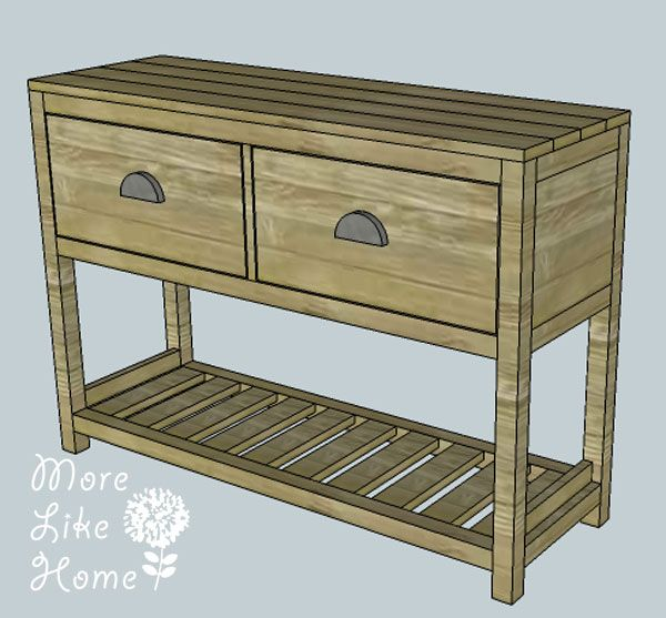 Entryway Table With Drawers diy entry table (plans, cut list, material list) from more like