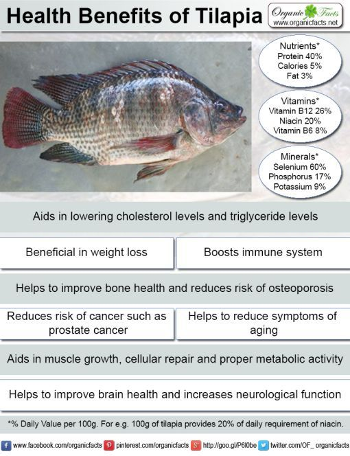 Tilapia is a delicious lean white fish that has a wide for Health benefits of fish