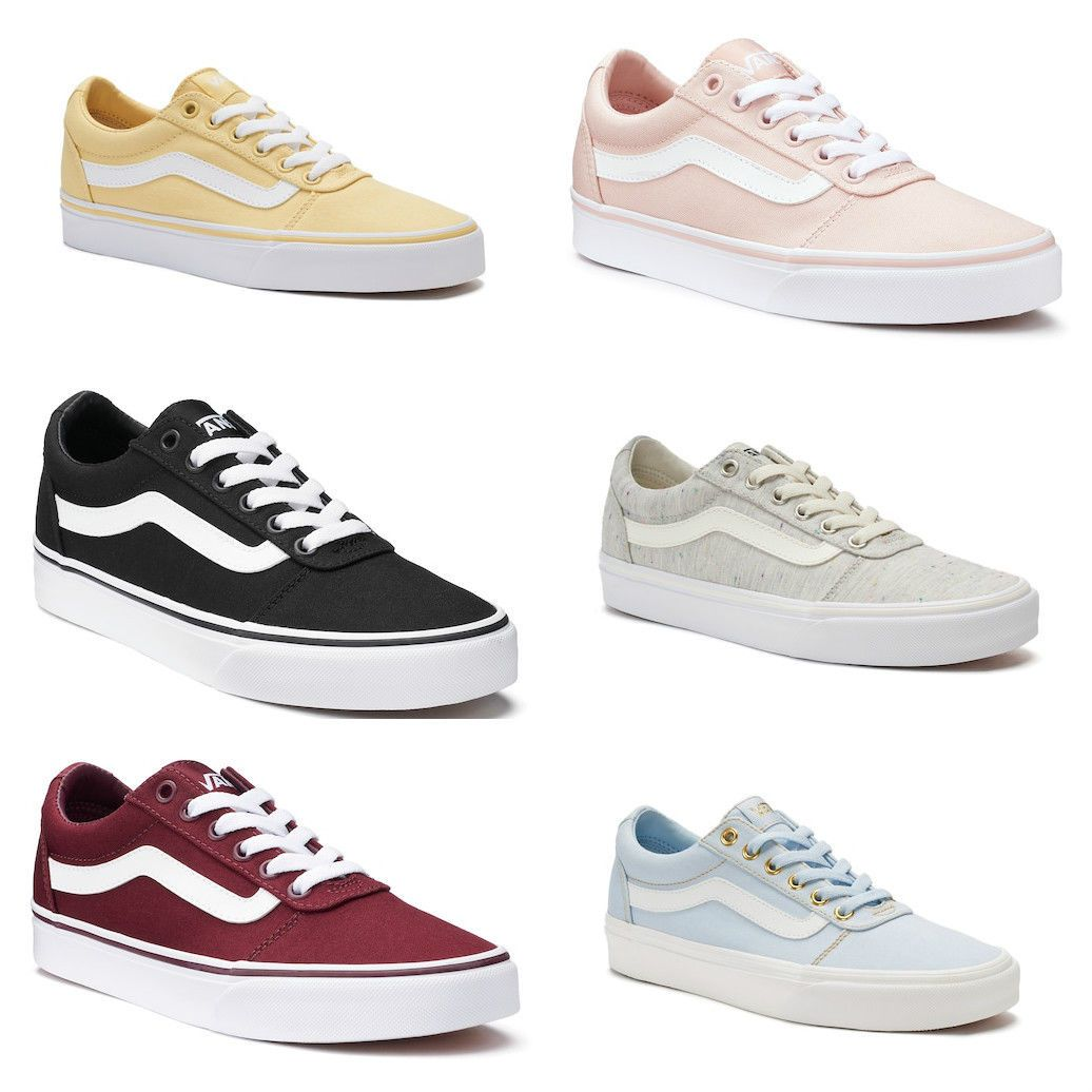 4ab7f0e1558e2 Womens Shoes 3034  Vans Ward Low Top Women Shoes Athletic Casual Skate  Sneakers New -