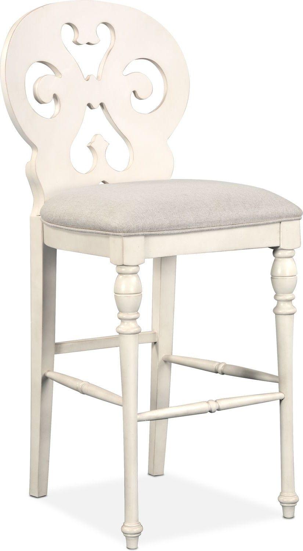 Charleston Scroll Back Barstool White White Bar Stools Furniture Value City Furniture