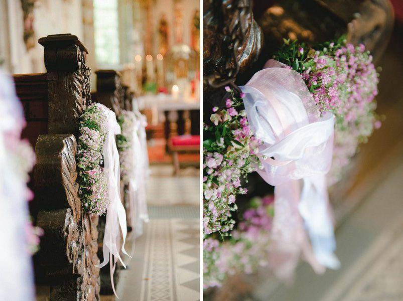 Kirche Blumen Deko Hochzeit Schleierkraut Ceremony Design