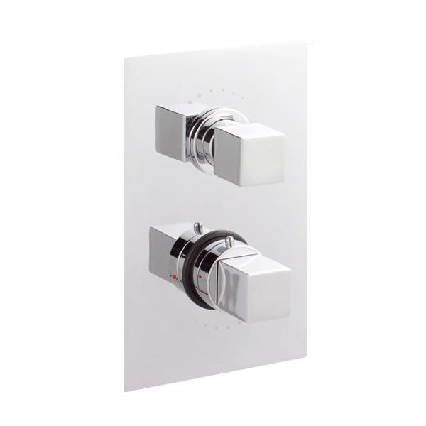 Kubix Twin Concealed Thermostatic Shower Valve With Built In
