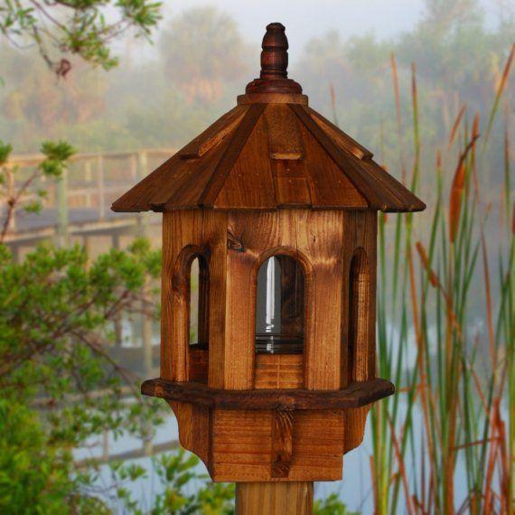 Bird Feeder Wooden Bird Feeder Posted Bird Feeder