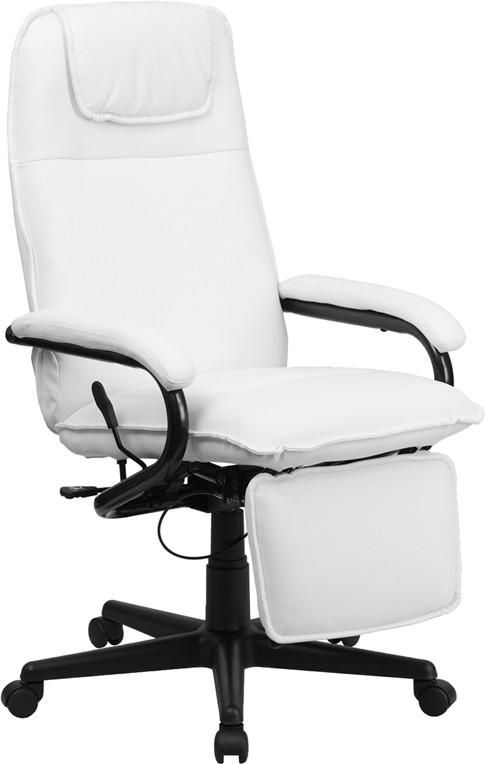 flash furniture high back white leather executive reclining swivel