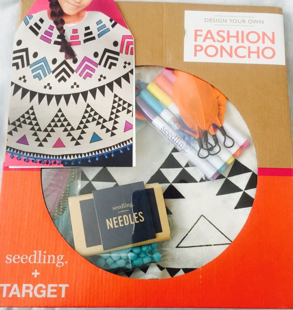 Design Your Own Fashion Poncho Girl S Craft Set Seedling Target Nib Craft Set Crafts For Girls Poncho Style