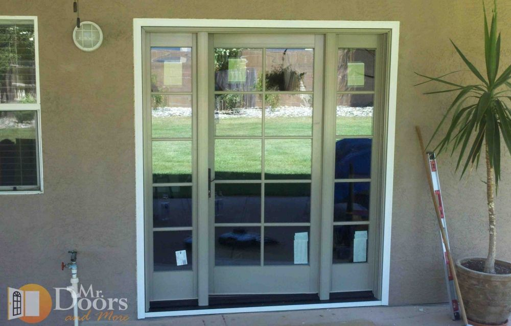 Sliding Patio Door To Hinged Patio Door Replacement Single Patio