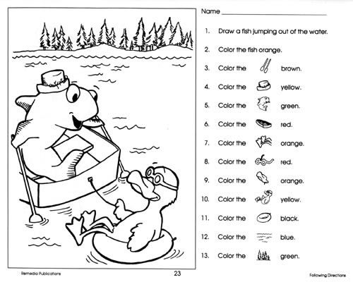 Following Directions Worksheet Kindergarten Davezan – Following Directions Worksheets Kindergarten