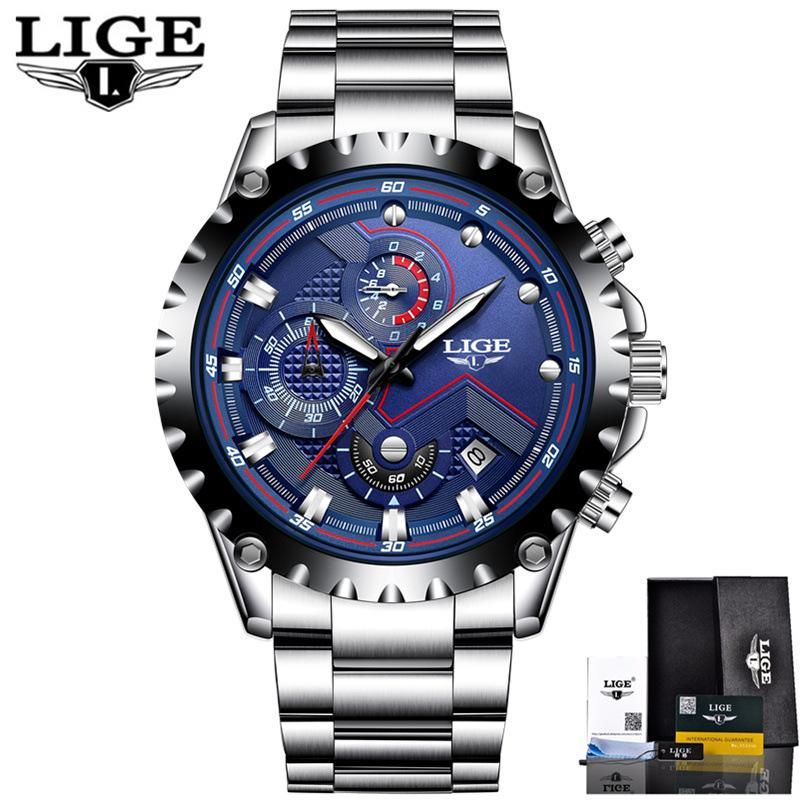 5cce4215c47 LIGE Men s Watch