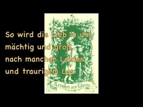 Ännchen von Tharau - mit Text zum Mitsingen - YouTube Papa
