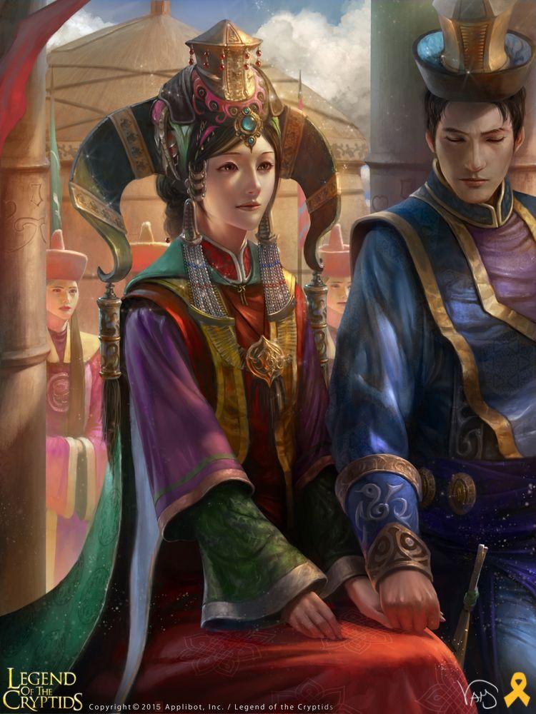 Artist: Yang Mansik aka yam8417 - Title: Unknown - Card: Tiras, Steppe Huntress (Custom)