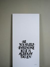 Print – be yourself...