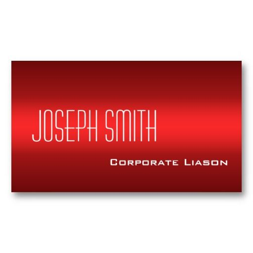 Plain Shades Of Red Professional Business Cards
