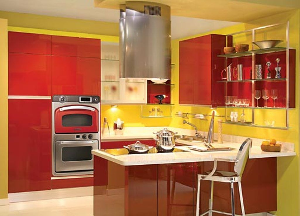 Red And Yellow Kitchen With Images Modern Retro Kitchen Red