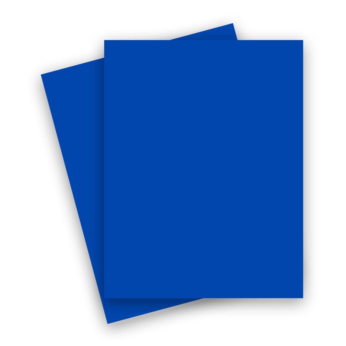 Plike Plastic Like Paper 8 5 X 11 Royal Blue 122lb Cover 25 Pk Royal Blue Cover Blue