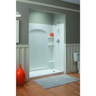 Sterling Ensemble Curve 60 In X 30 In X 75 3 4 In Shower Kit