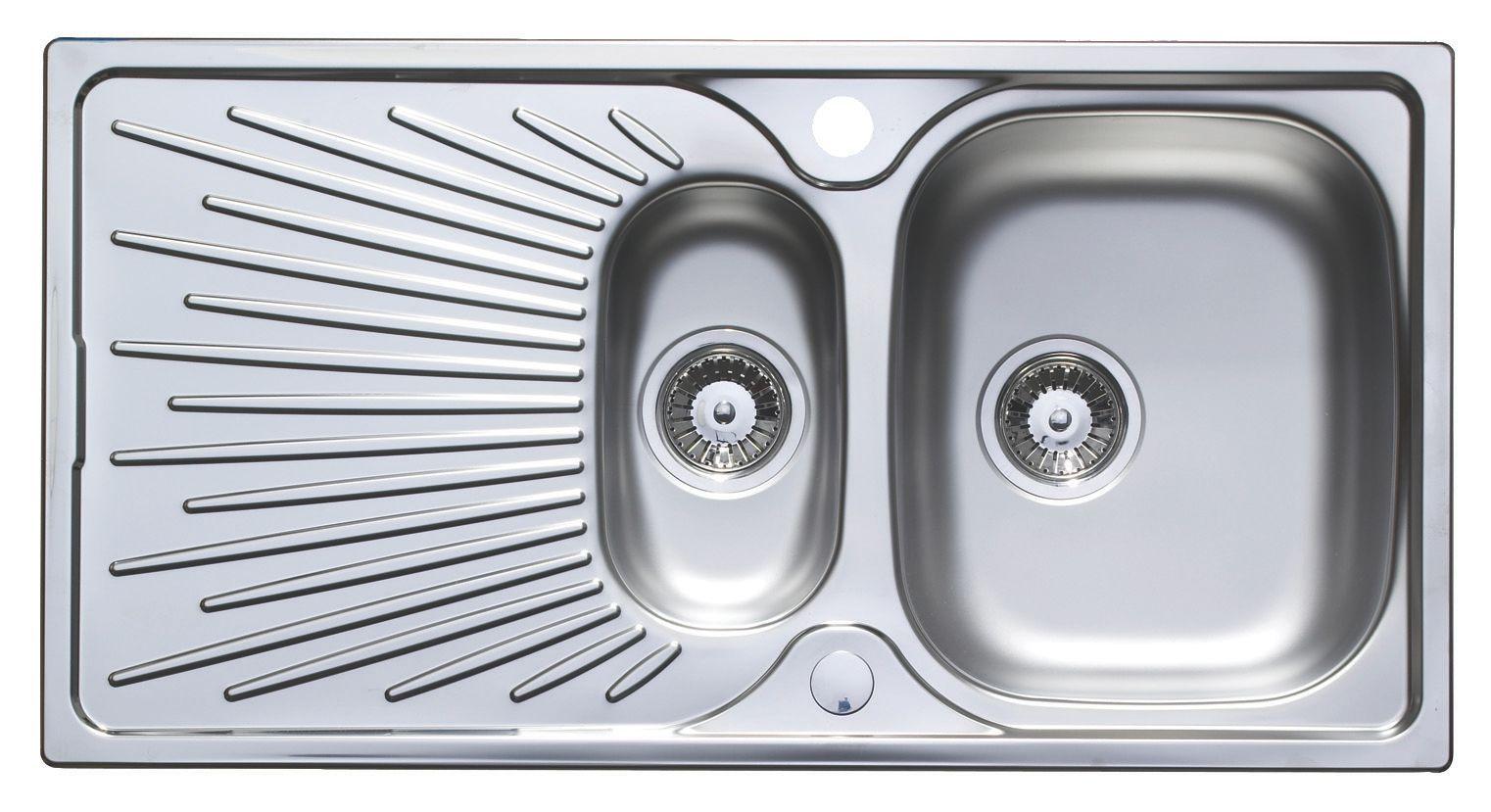 Astracast Sunrise 1.5 Bowl Satin Stainless Steel Sink & Drainer ...