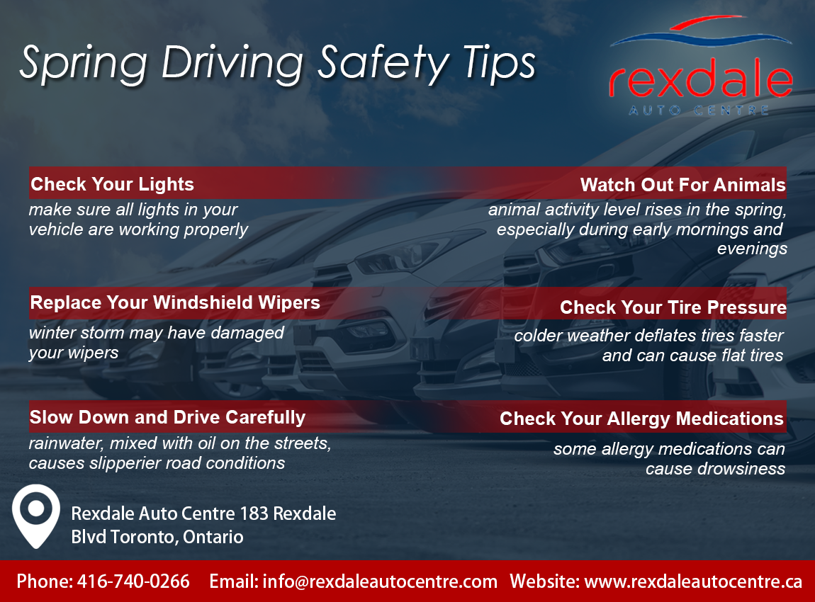 Spring Driving Safety Tips By Rexdale Auto Center. For