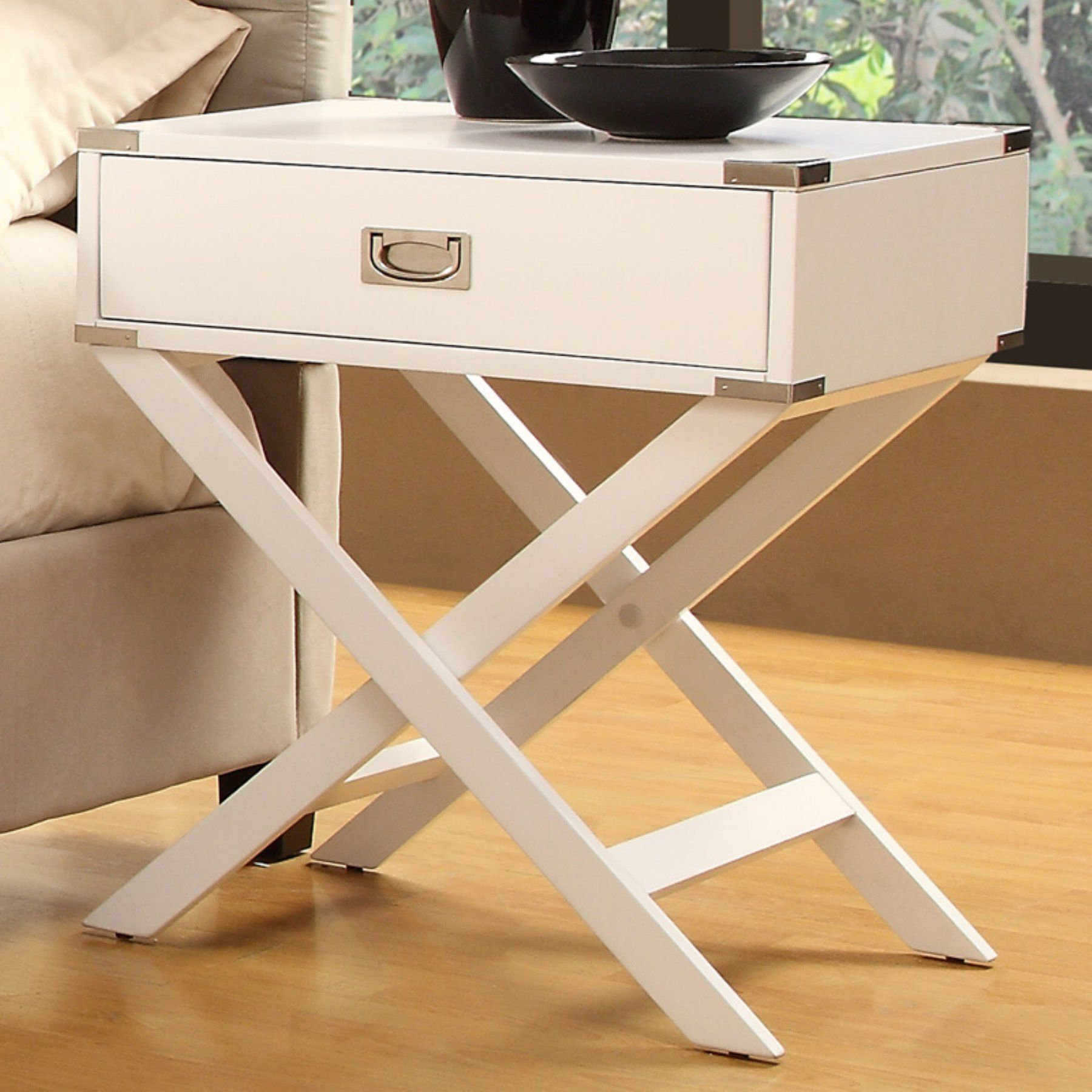 Weston Home 1 Drawer Accent Table With X Leg 562a161w 3a